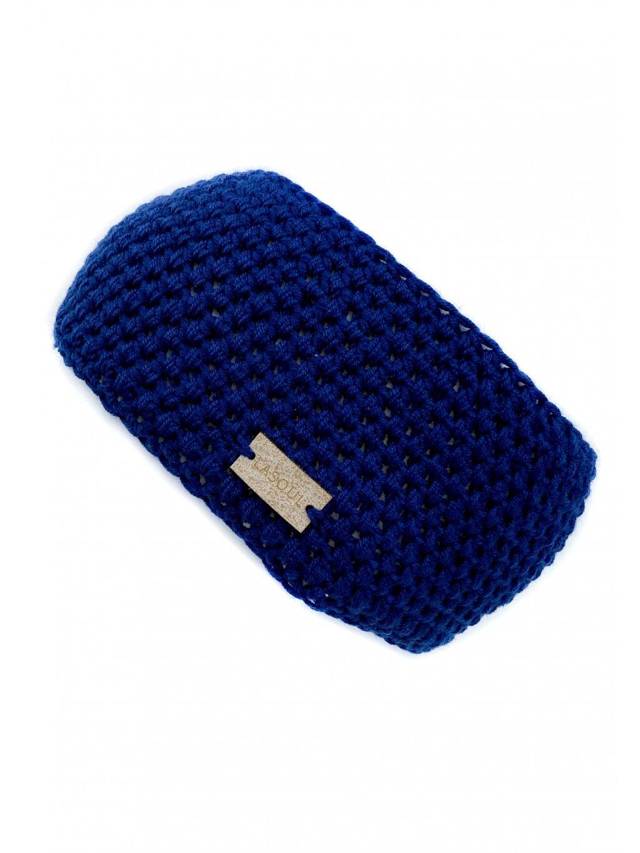 Čelenka merino modrá