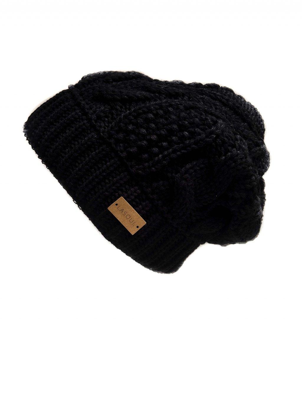 Pletená čepice Black