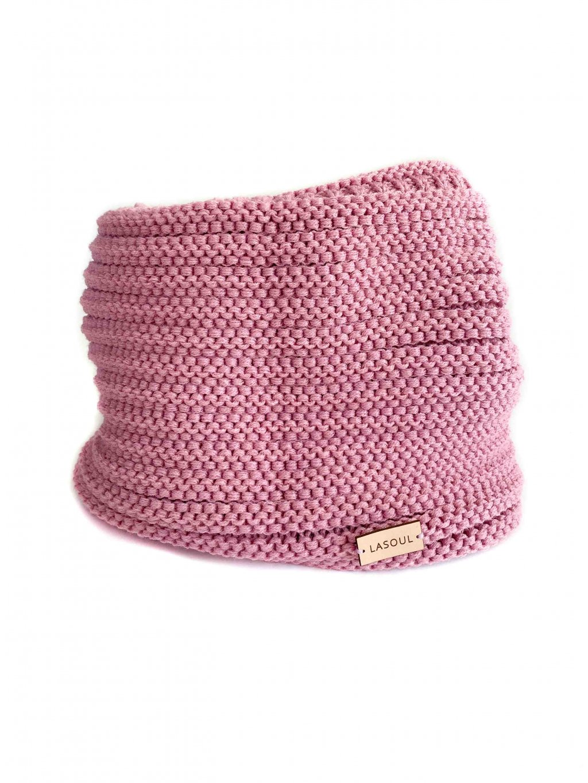Pletený nákrčník Old Pink