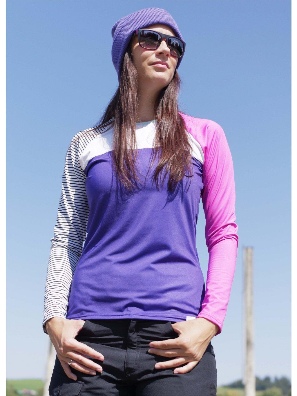 Sportovní tričko fialové