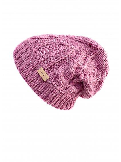 Pletená čepice Old Pink