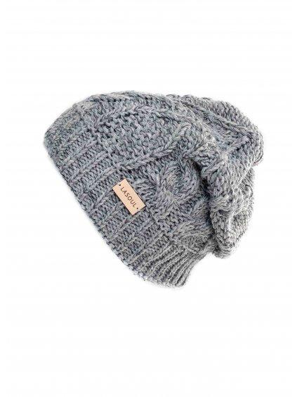 Pletená čepice Grey