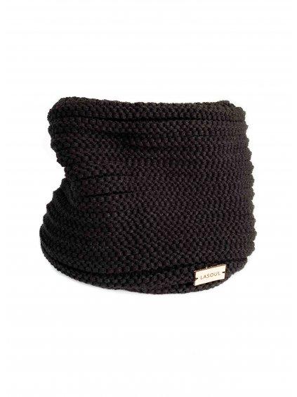 Pletený nákrčník Black