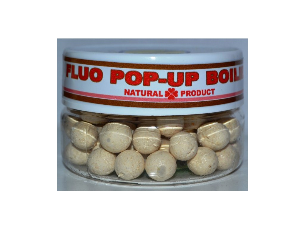FLUO POP-UP Boilies -white-10 mm