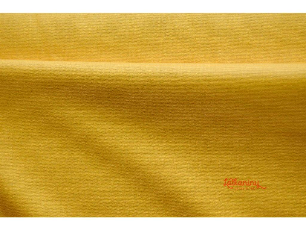 bavlna_jednobarevná_žlutá_latkaniny