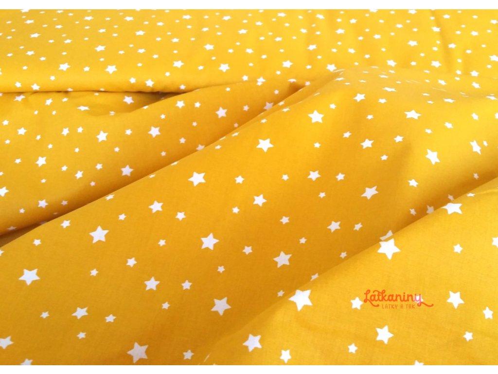 bavlna_žlutá_hvězdy_latkaniny