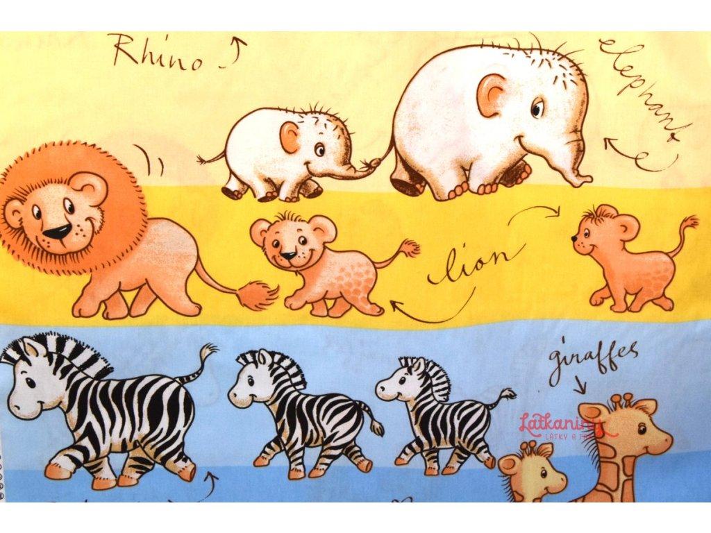 1b170c5af2d2 Bavlněná látka se zvířátky
