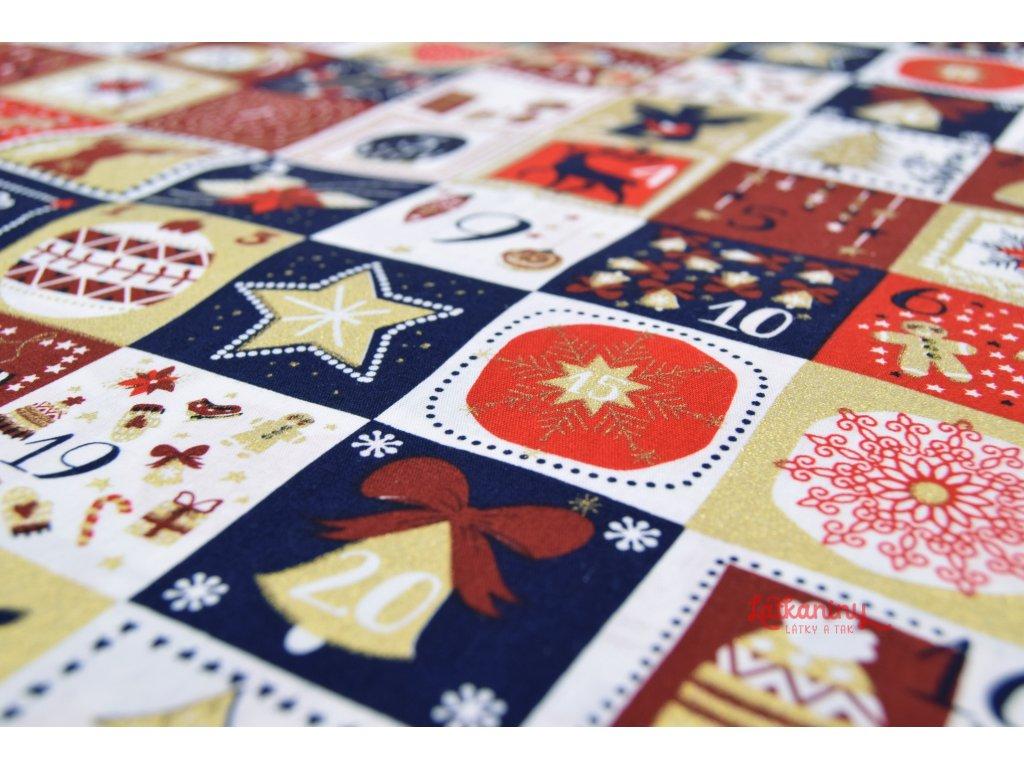 vanocni bavlna adventni kalendar