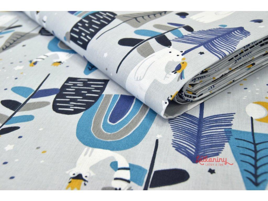 Bavlna dětská lesní zvířátka  Bavlněné plátno dětské