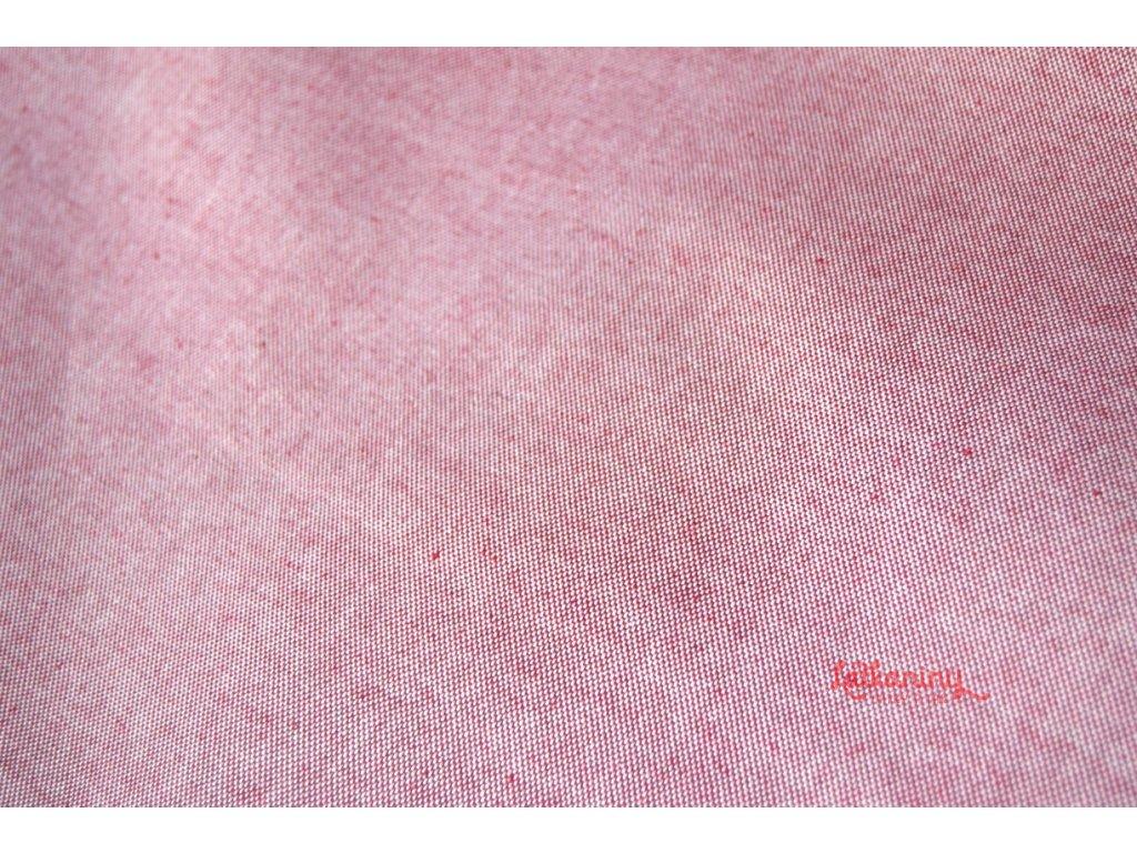 7617d4616e30 Dekorační látka červená režná - Látkaniny