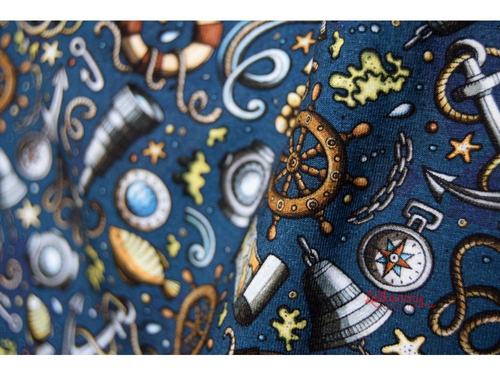 ÚPLET MOŘE MODRÝ · dětský bavlněný úplet · dětský úplet metráž · úpletová  látka · klučičí úplet · krásné úplety ... 8dac78caa85