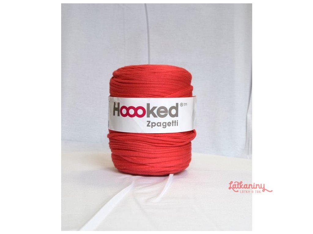 Textilní příze špagáty - červená