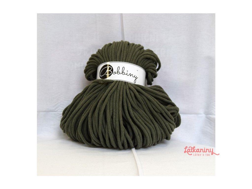 textilní příze olivóvá