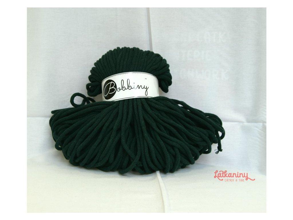 textilní příze zelená
