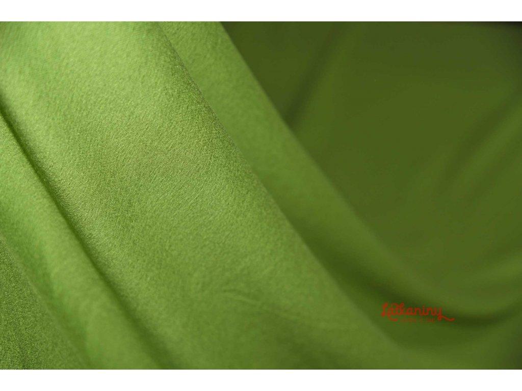 Bambusovy viskozovy zeleny uplet (1)