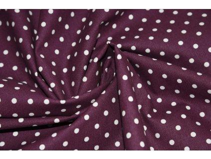 Platno fialovy puntík (2)