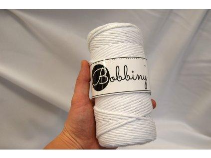 Textilní příze macramé - bílá  Bobbiny macramé