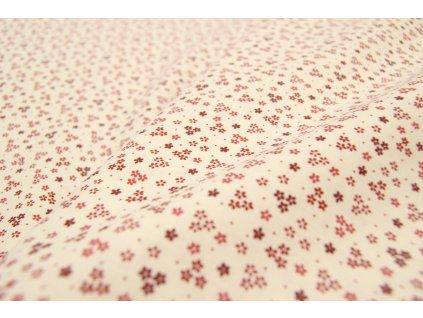 bavlněné plátno květované
