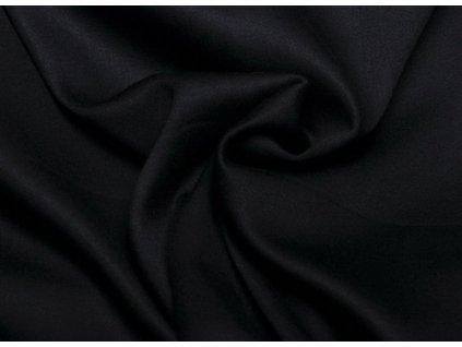 Černý bambusový viskózový úplet  Jednolíc bambusová viskóza
