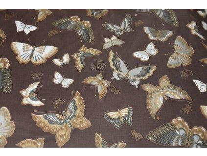 Hnedy uplet s motyli (3)