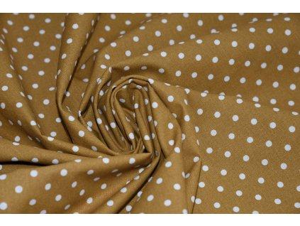 Bavlna puntik horcice (2)