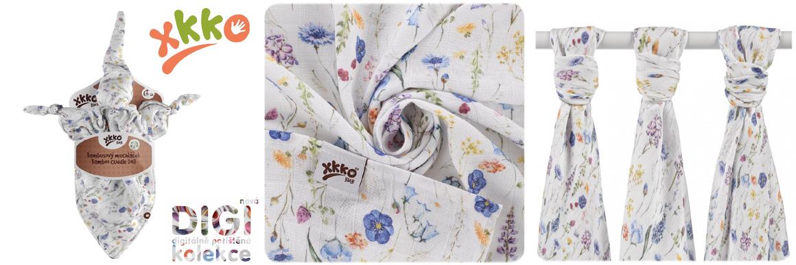 Xkko digitální kolekce Blue flowers