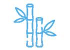 bambusové keprové