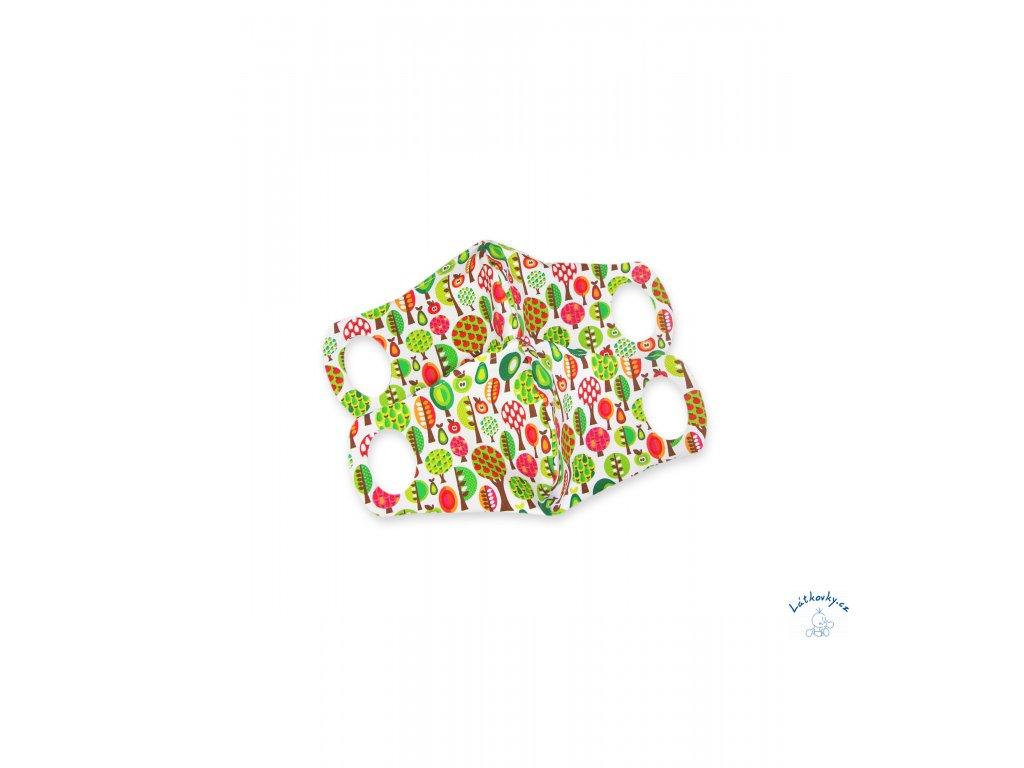 102686 Komfortní rouška s drátkem ovocný sad 2 ks S scaled