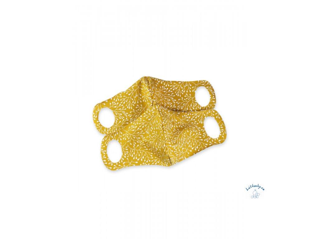 102470 Komfortni rouska s dratkem okrove ornamenty 2 ks L scaled