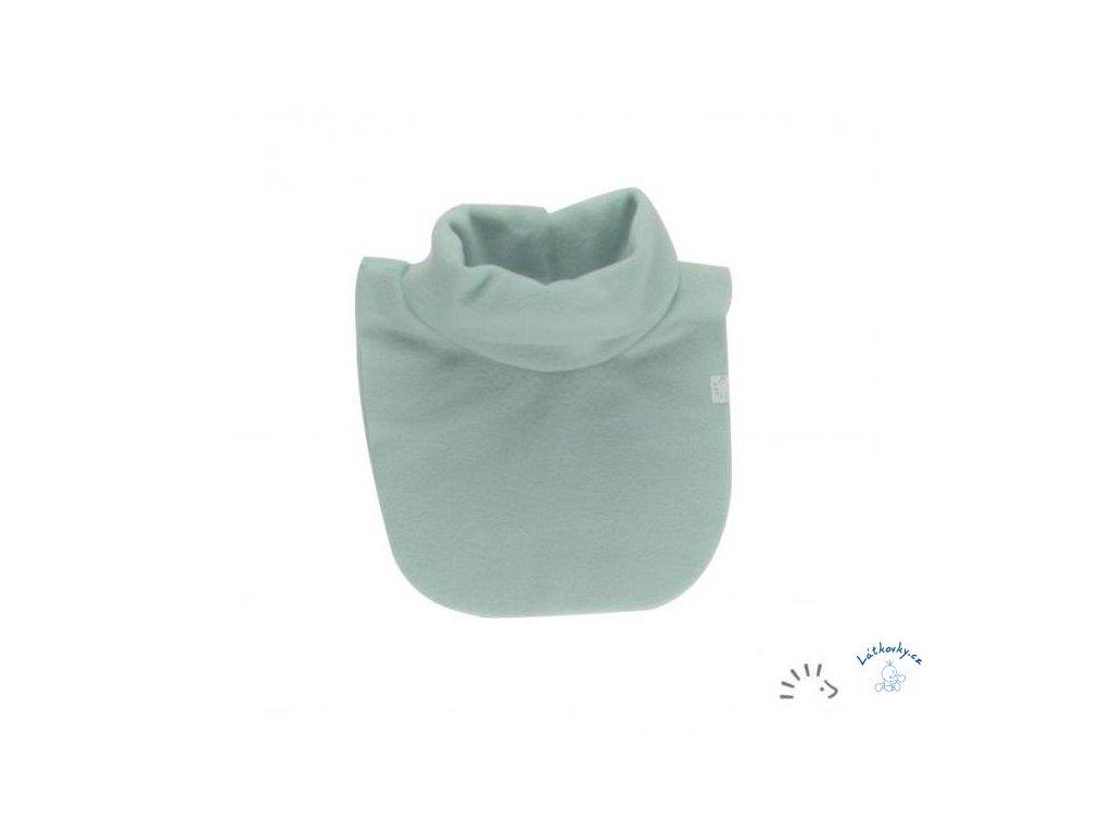 Iobio childrensneckwarmer organiccottonfleece mintmelange LRG