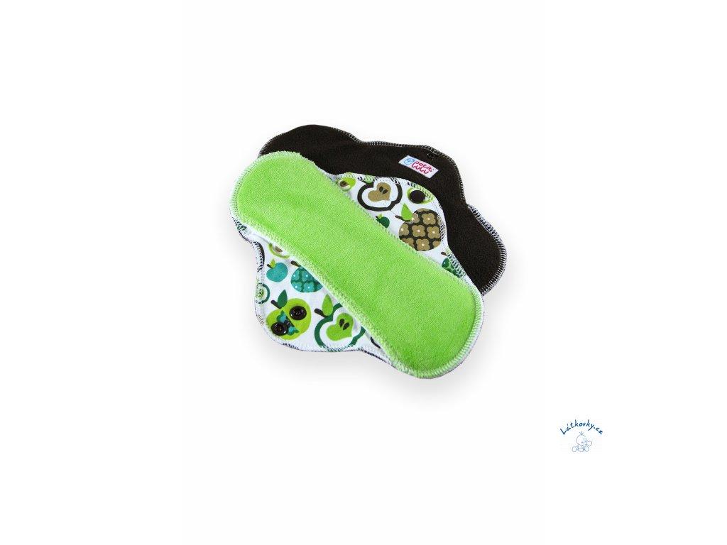 101954 Jablka zelena latkova vlozka STANDARD fleece new