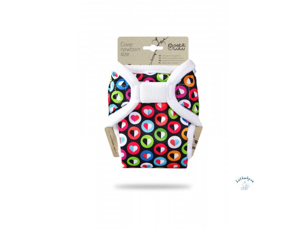 102547 Barevná srdíčka novorozenecké svrchní kalhotky