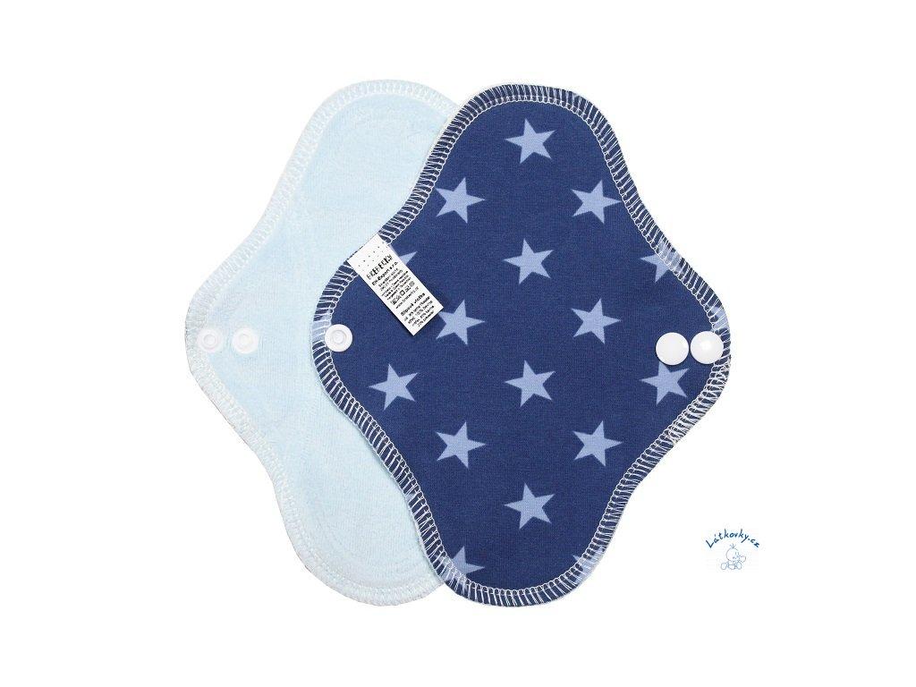 22799 1 slipovka bavlna hvezdicky modre