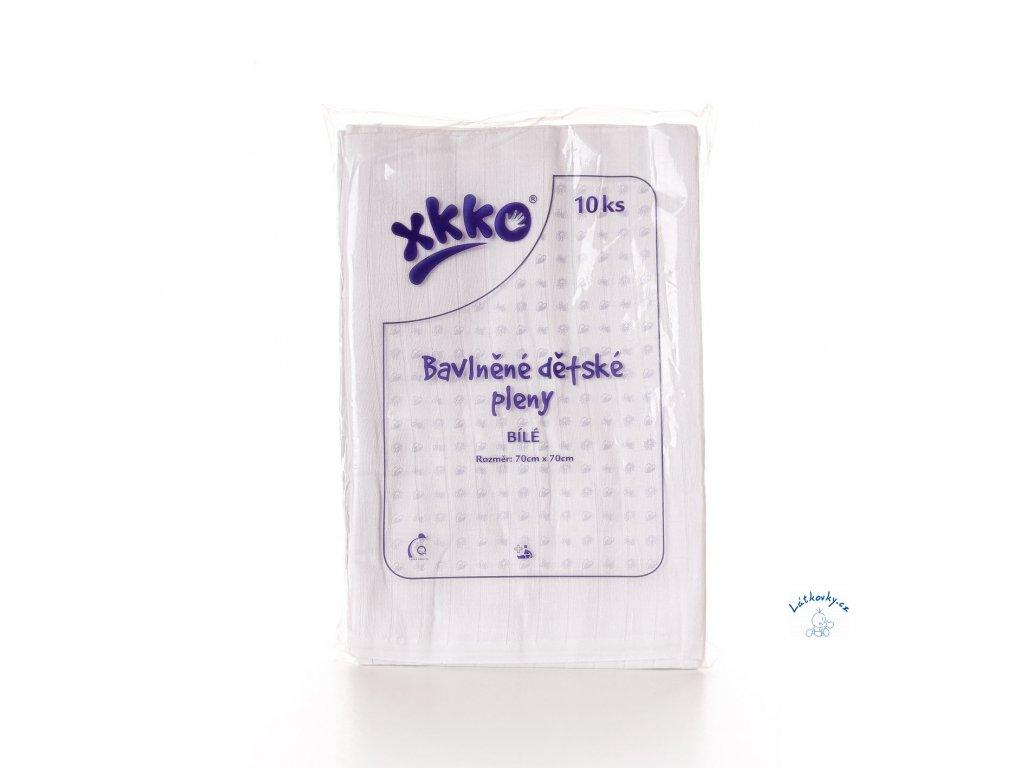 detske pleny xkko classic 70x70 bile c59