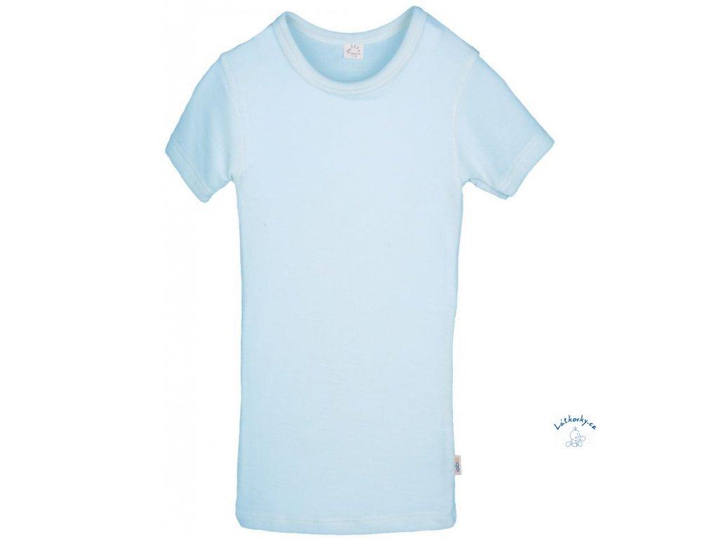 IoBio tričko kr. rukáv vlna/hedvábí - sky (Velikost 98/104)