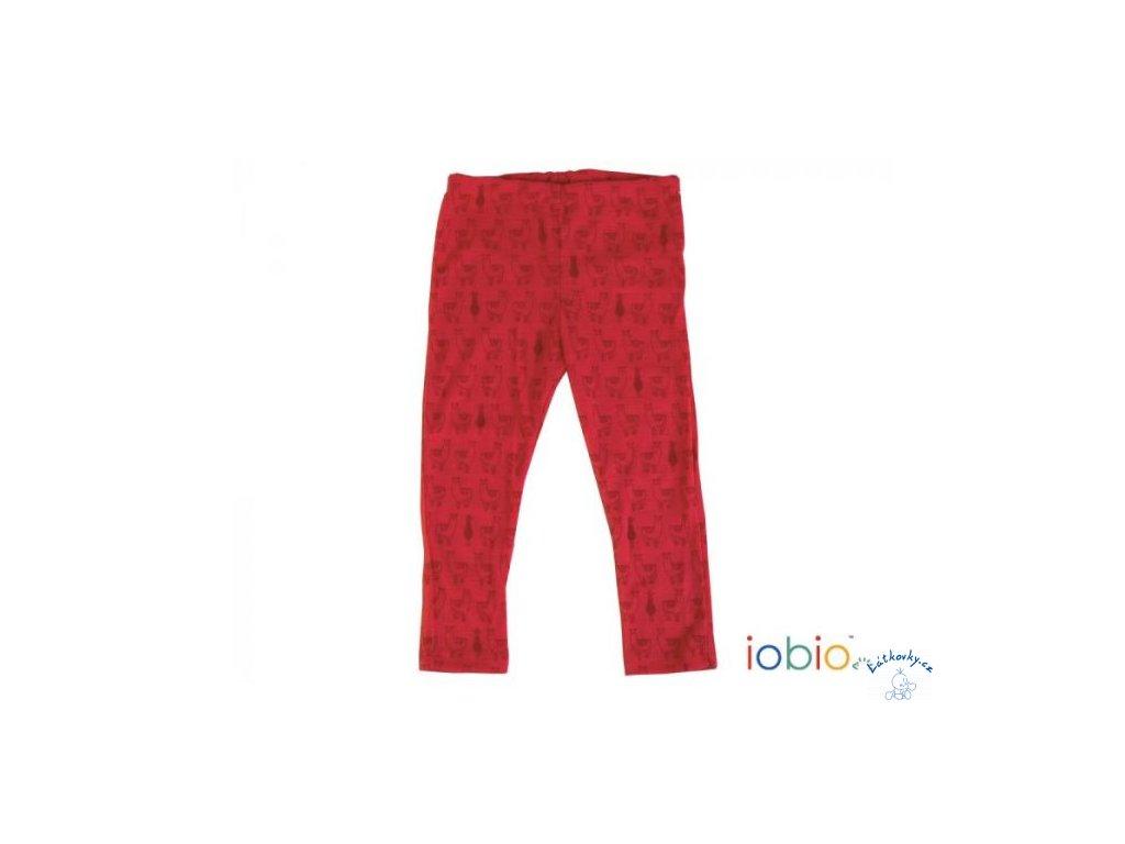 IoBio legínky vlna - Lama Red (Velikost 98/104)