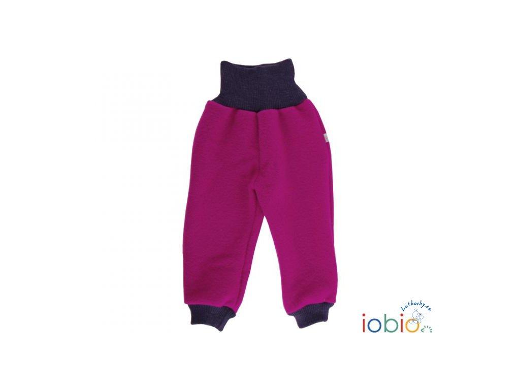 iobio kalhoty vlneny flaus fuchsia