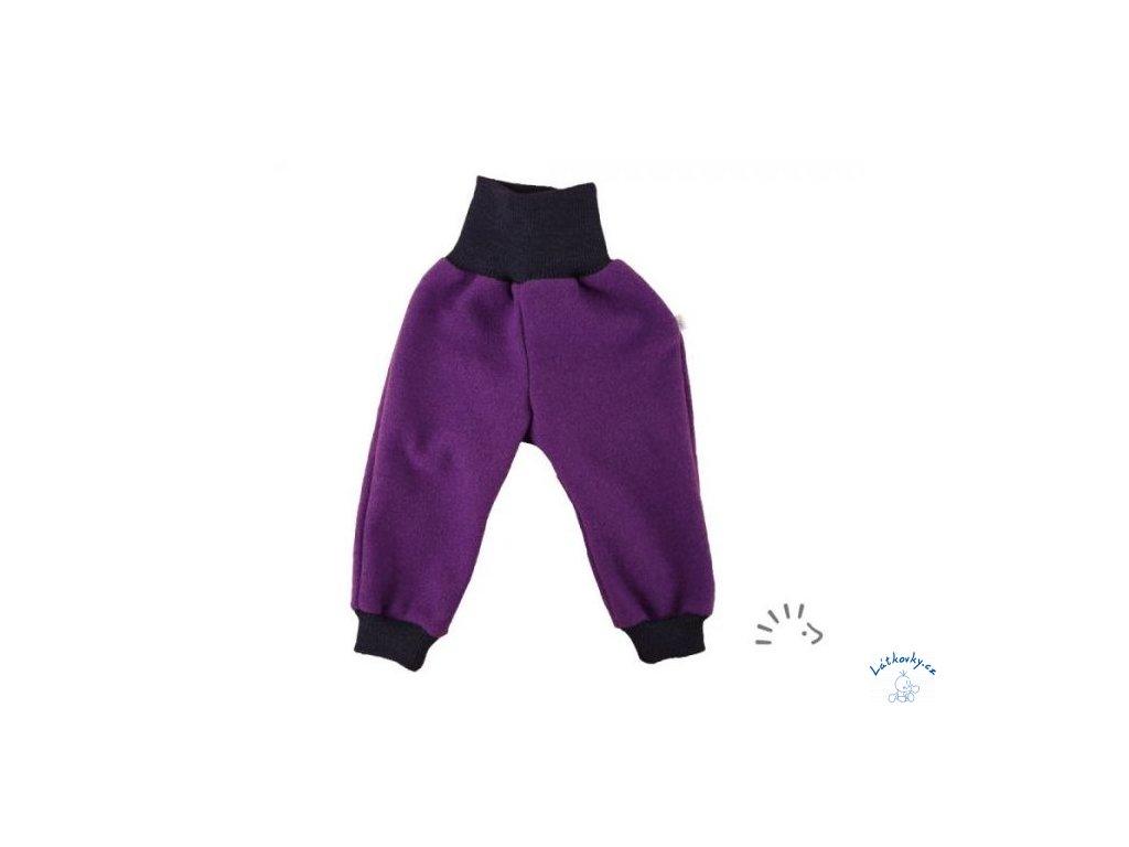 iobio kalhoty vlneny flaus provance plum