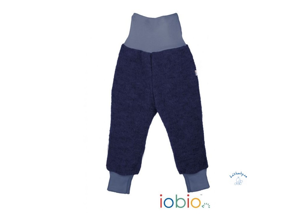 iobio kalhoty vlneny flaus dark blue