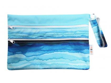 Breberky pytel 2komor (PUL) XS -Modrá laguna