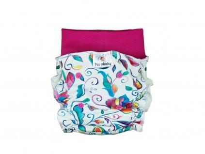 3198 natahovaci kalhotovka barevne kvety pat