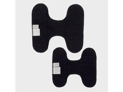 3 cernw stoffbinden ohne knopfe black gra web