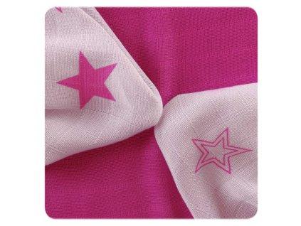 Bambusové plenové ubrousky MAGENTA STAR Mix 30x30cm,9ks