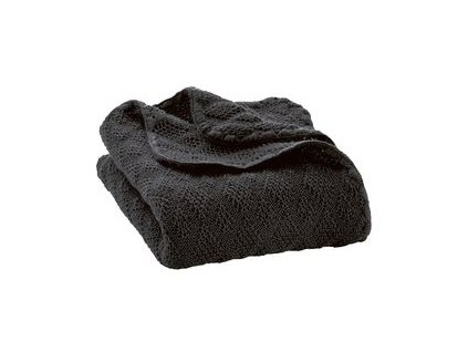 Merino deka pletená Disana, 100x80 cm, ANTRACIT