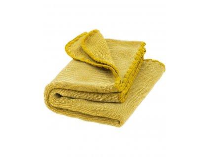 Merino deka pletená Disana, 100x80 cm, MELÍR CURRY