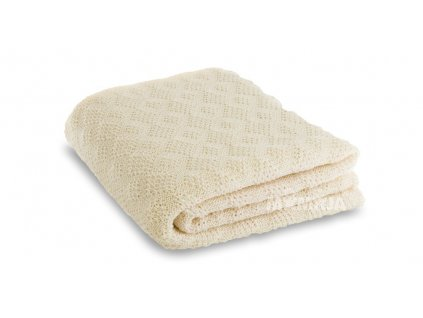 Merino deka pletená Disana, 100x80 cm, přírodní