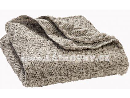 Merino deka pletená Disana, 100x80 cm, šedá