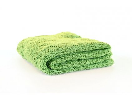 Merino deka pletená Disana, 100x80 cm, zelená