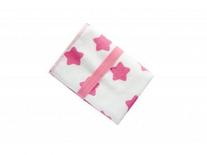 PŘEBALOVACÍ PODLOŽKA MAJAB - růžové hvězdičky