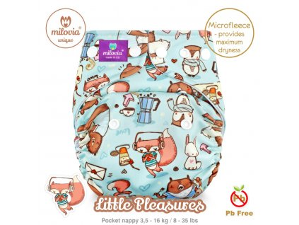 milovia fleece kapsova latkova plena Little Pleasures